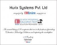 Hurix Systems wins the award of 50 most promising education tech solution providers 2015 for its digital publishing platform Kitaboo
